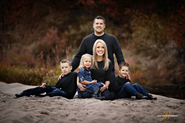 blended family engagement photos