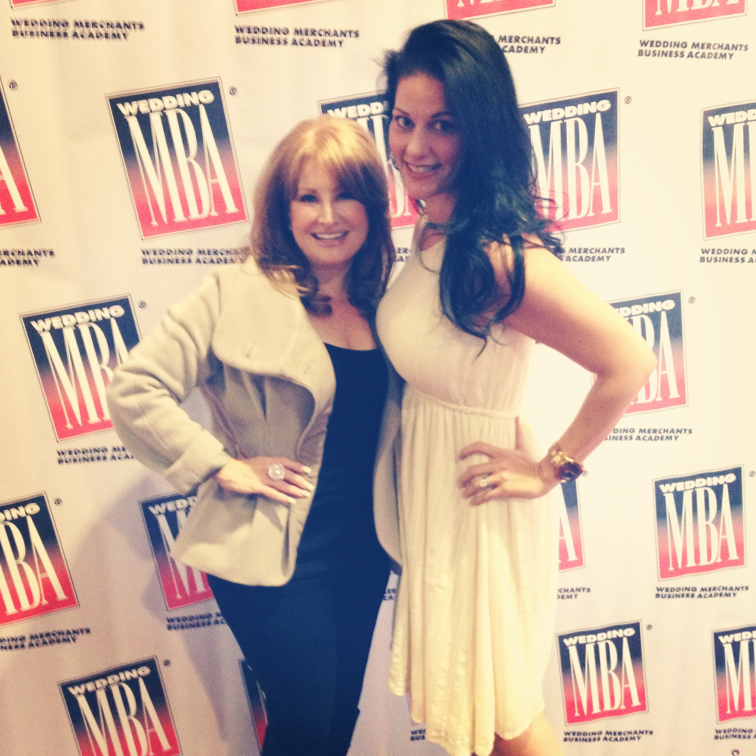 With the ever-so-adorable Renee Strauss of Brides of Beverly Hills at the WMBA 2013. She took the time to meet with every wedding planner, every attendee, and ever fan that heard her speak.
