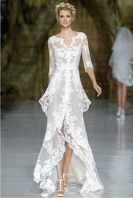 Dress of the Year!  Lace wedding dress by Pronovias, Bridal Market 2014.  Photo courtesy of Brides.com.