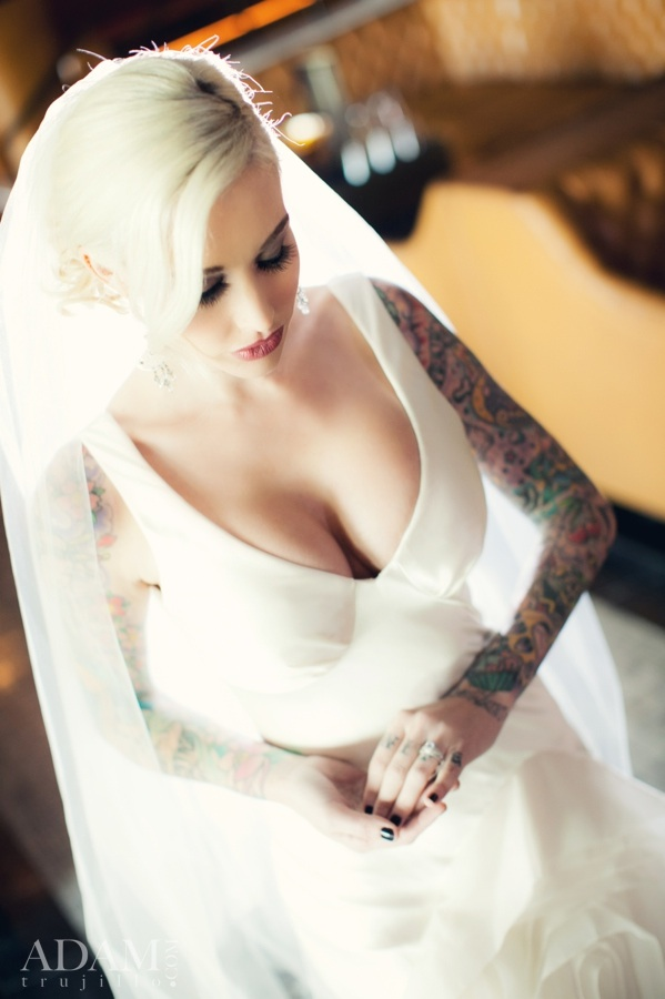 And the bride wore Vera, which showcased the beautiful tattoo work she has developed over the years.
