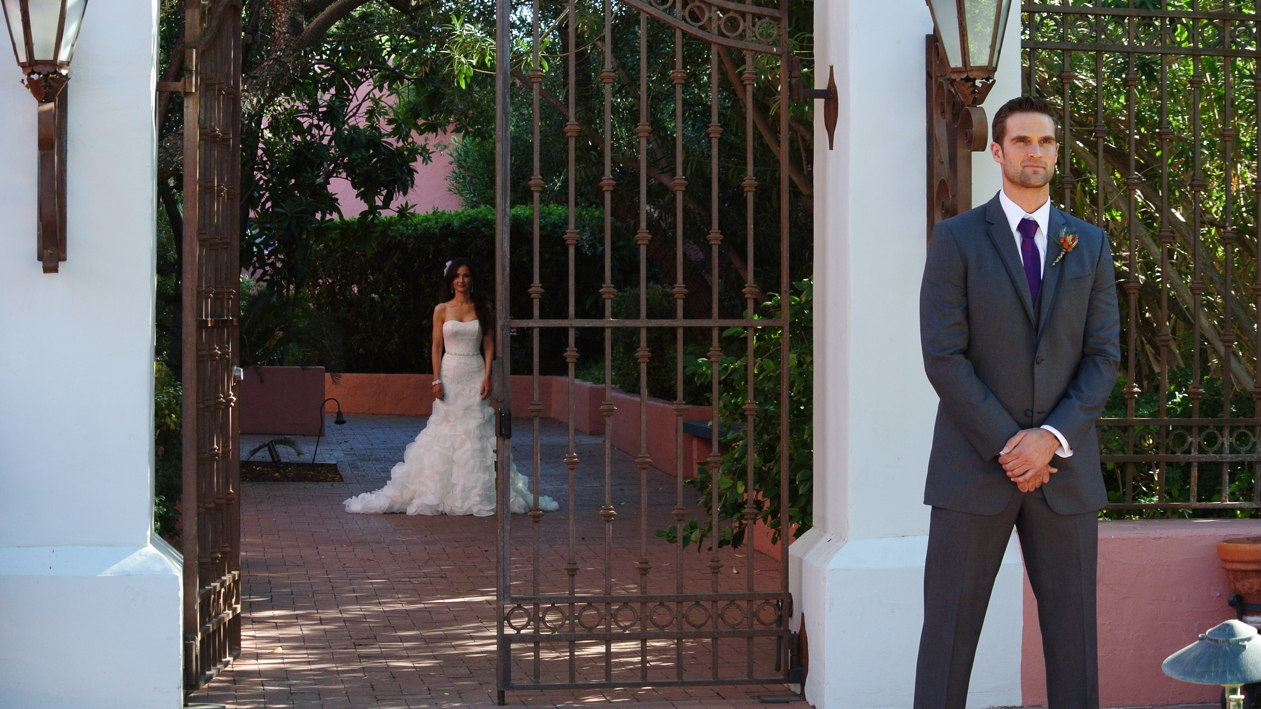 The First Look - Photo by Wedding Planner Andrea Eppolito.