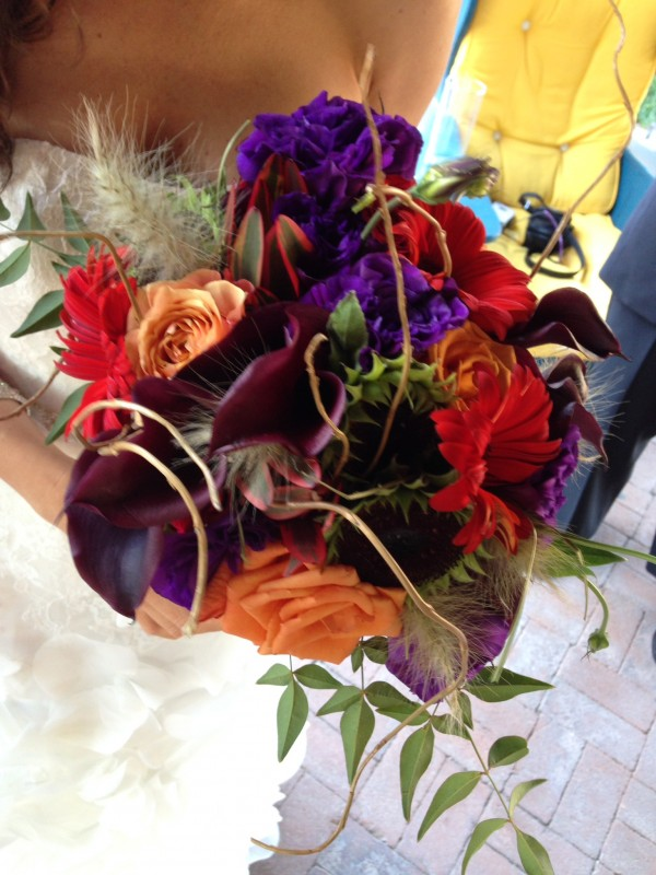 The rustic, fall bouquet showcased all of the colors Lori loved so much.