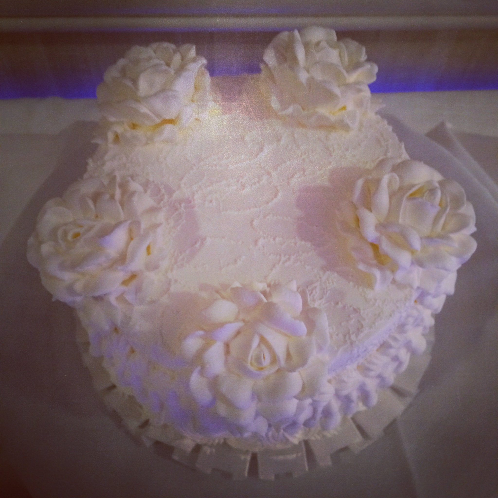 By far the most sugary-sweet cake I have ever tasted. Inspired by a grocery store near you!