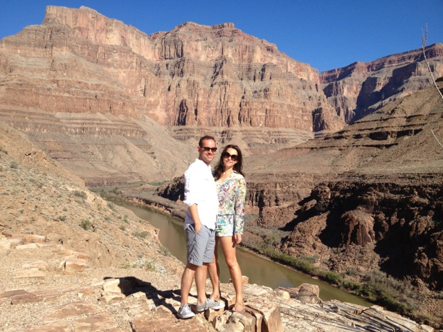 Ross & Rebecca at The Grand Canyon.