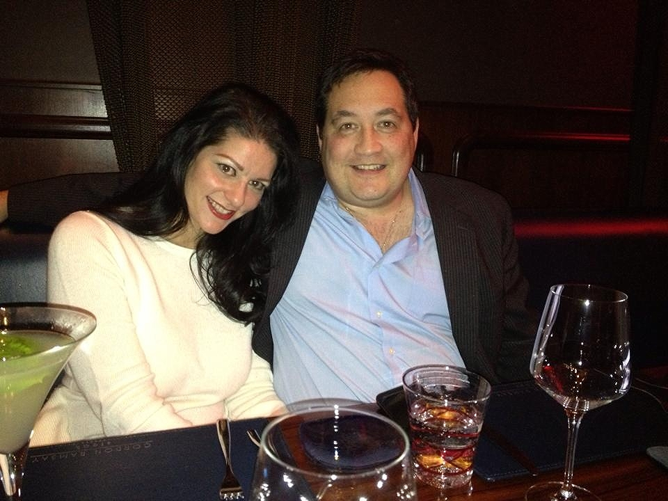 With my husband at Gordon Ramsey Steakhouse in the Paris Hotel - The perfect birthday dinner.