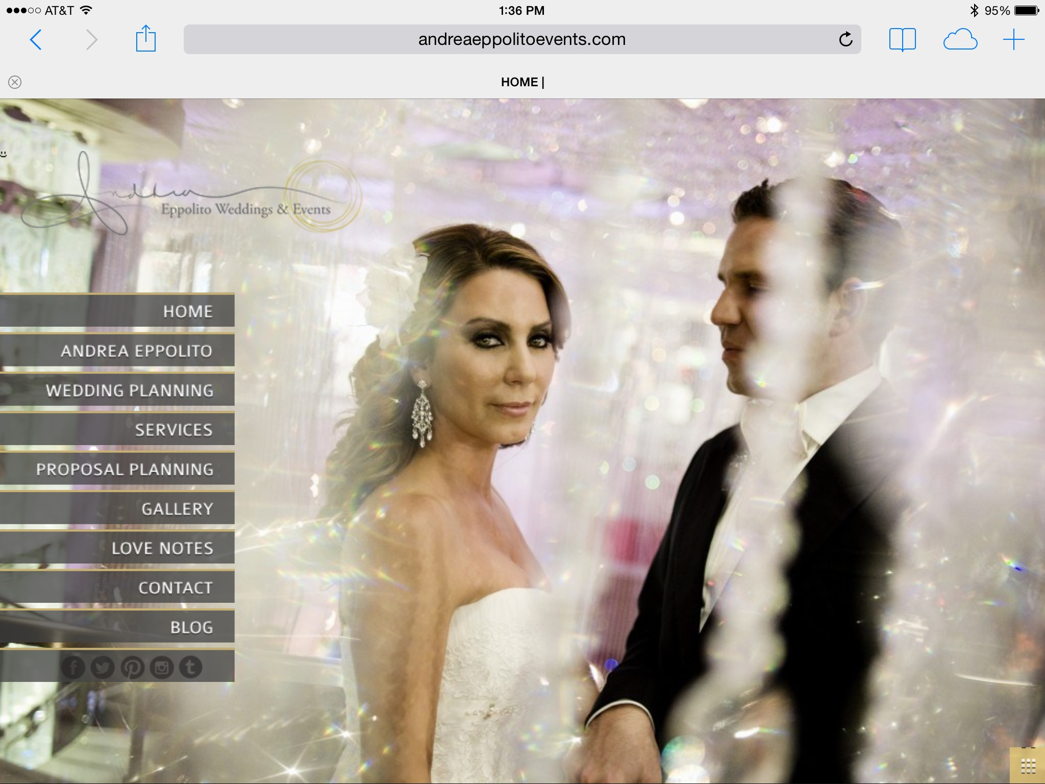 Goodbye, Wordpress and Andrea Eppolito Weddings & Events 2.0!  Welcome to the new 3.0!