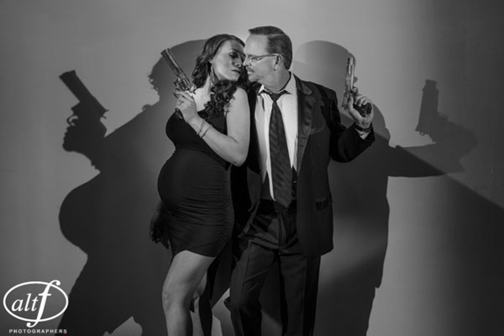 Mr. & Mrs. Smith inspired maternity photos