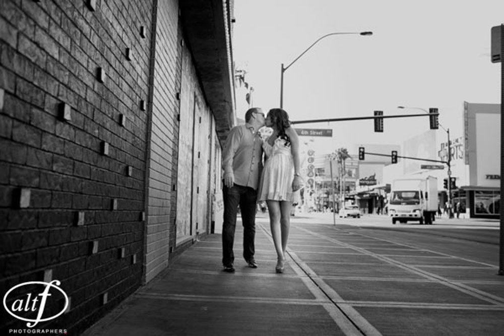 Megan & Alan - Engagement Photos taken in downtown Las Vegas.