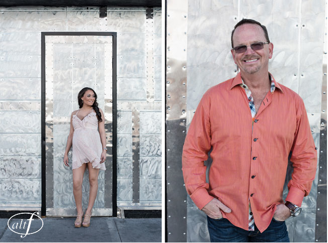 Megan and Alan - Engagement Portraits Downtown Las Vegas