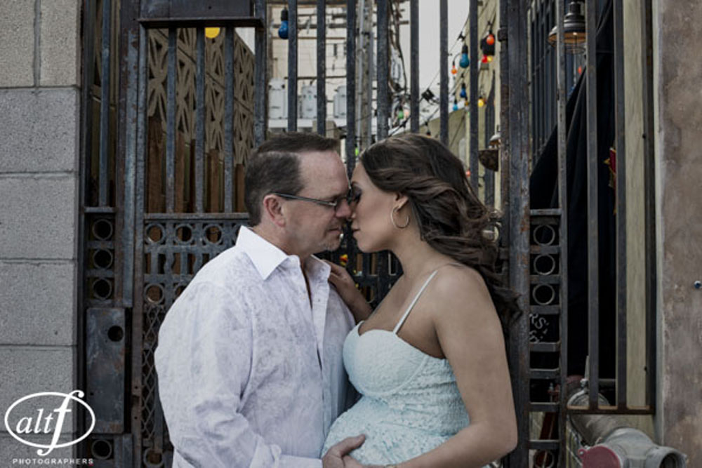 Alan & Megan - Downtown Las Vegas Maternity and Engagement Session