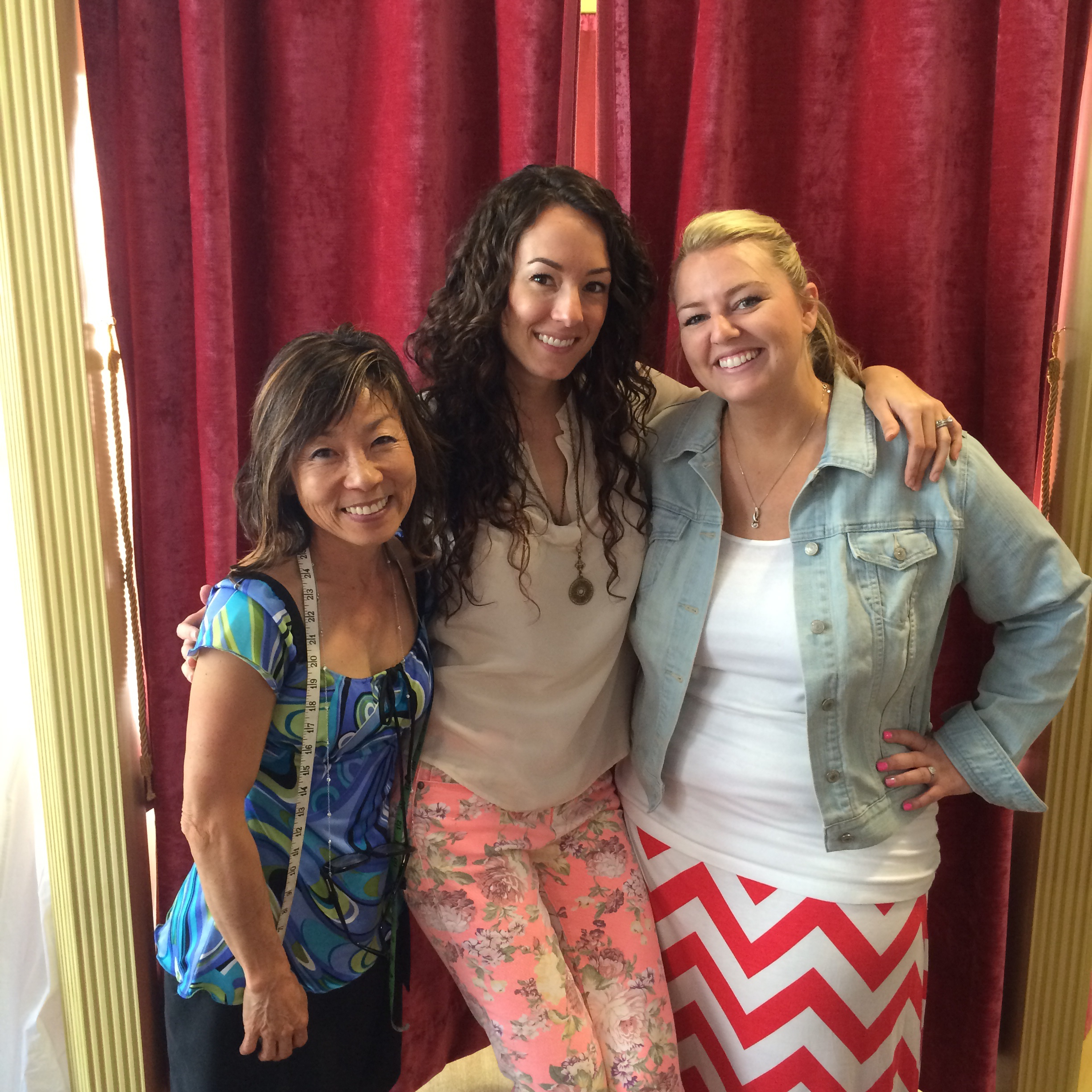 Seamstress, Yuki, designer and owner, Megan Thompson, and Bride-to-Be, Hayley.