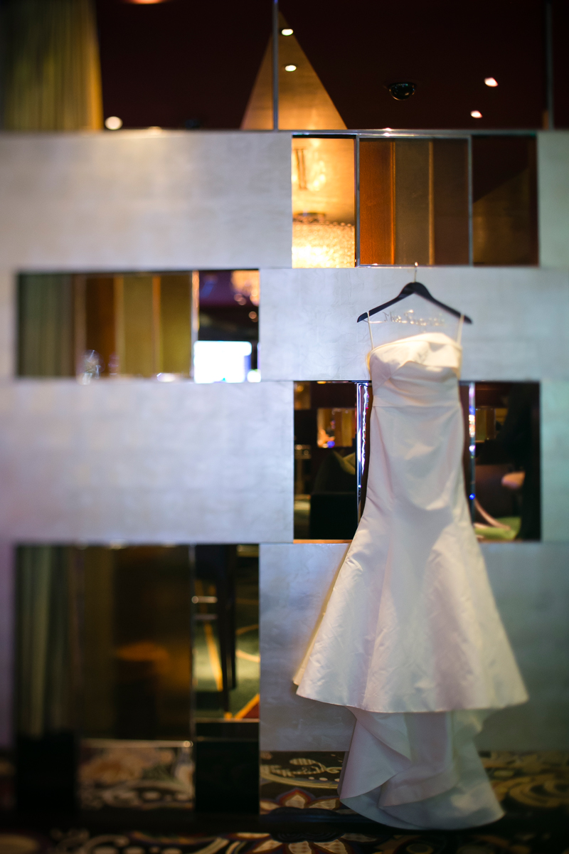 Wedding Gown:  Amsale .  Wedding Venue:  Bellagio Las Vegas.   Photo by  www.ronmiller.com .  Las Vegas Wedding Planner:  Andrea Eppolito Events