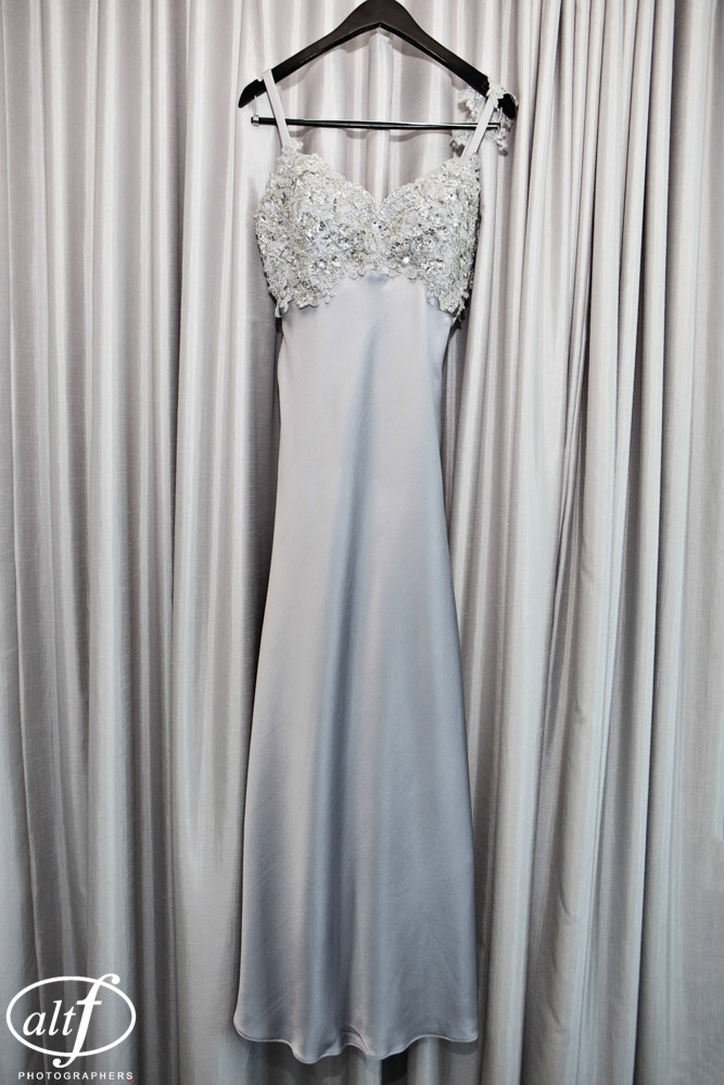 Jacki's wedding dress was designed and made for her in Australia.