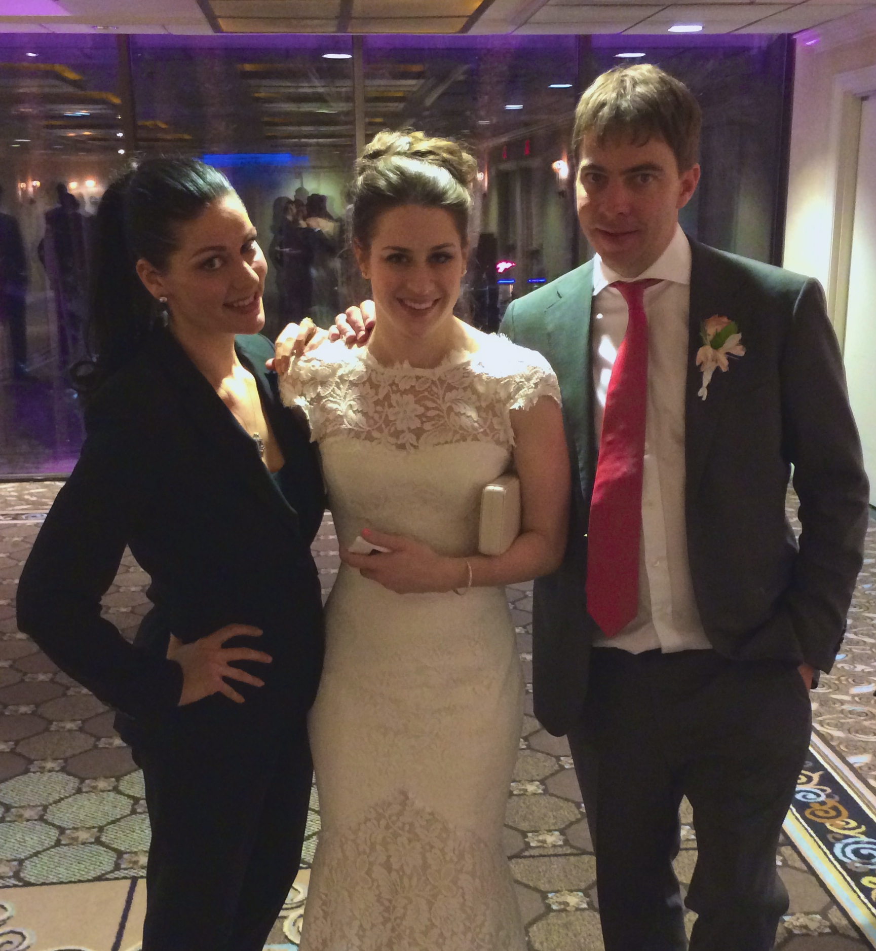 With my very happily married couple, Lindsey & Lockhart.  Photo Courtesy of Andrea Eppolito.
