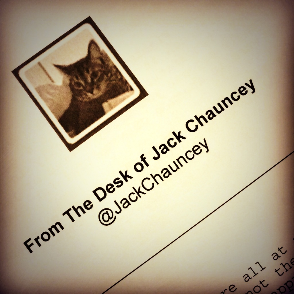 Welcome letters were written from the couple's cat, the one and only Jack Chauncey.  Photo Courtesy of  Andrea Eppolito's Instagram .