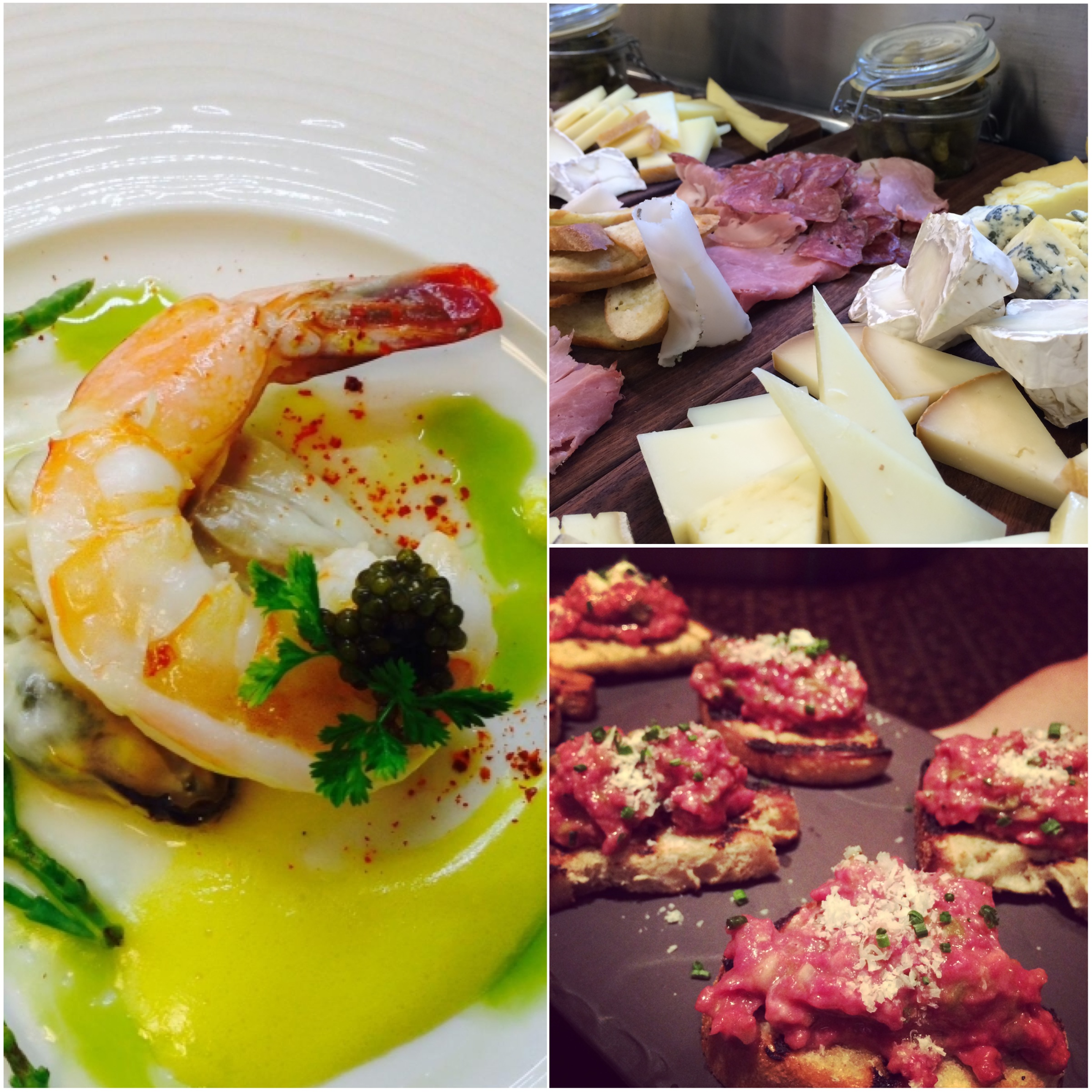 CommeCa's menu featured Jumbo Prawns and Caviar, Cheese and Charcuterie, and the most incredible Steak Tartar Crostini I have ever had in my life.  Photo Courtesy of Andrea Eppolito.