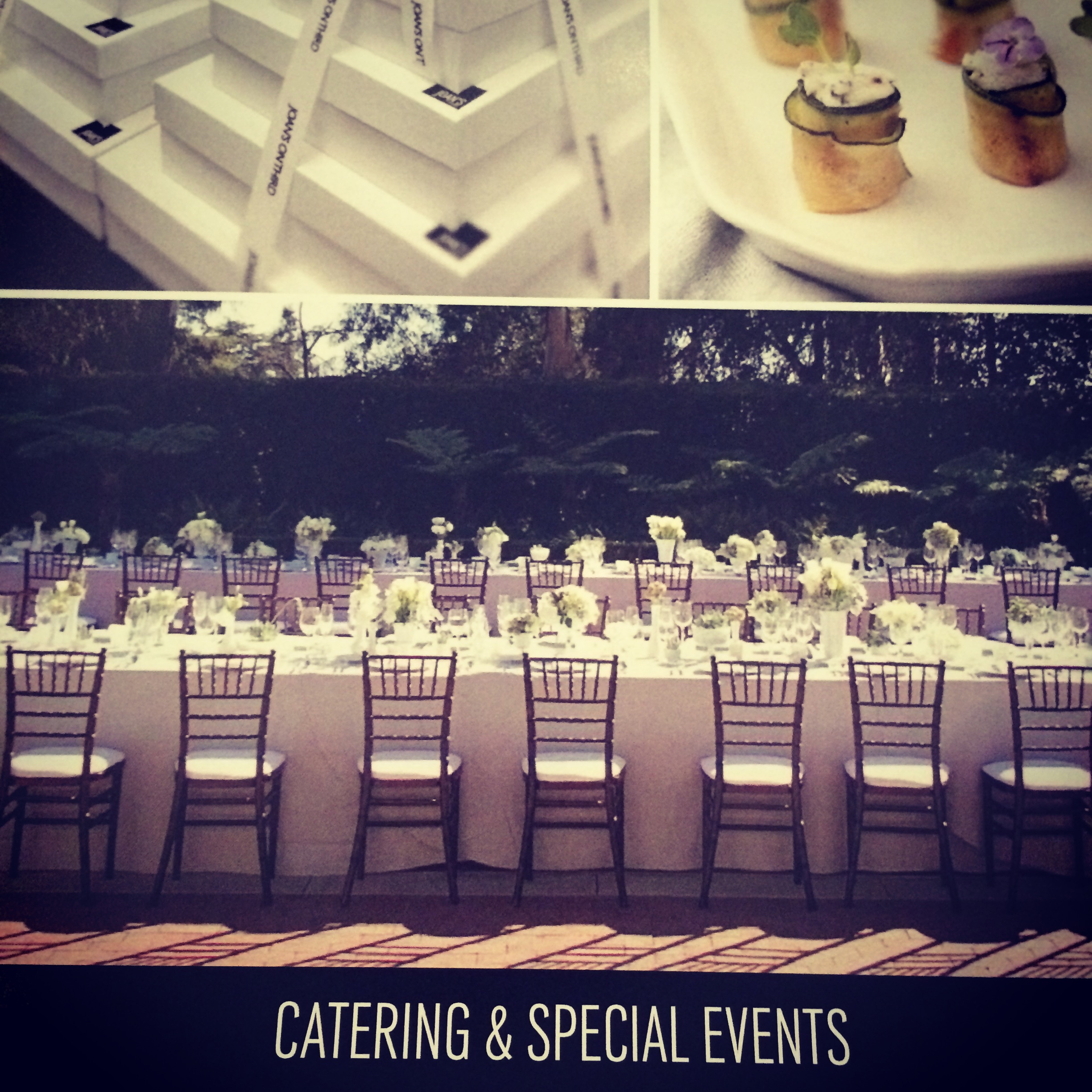 California Couples often tap their favorite neighborhood hang outs, such as Joan's on 3rd, for catering their weddings. Actually, a little known fact is that Joan's actually started out as a catering company before expanding into the mecca it is today!