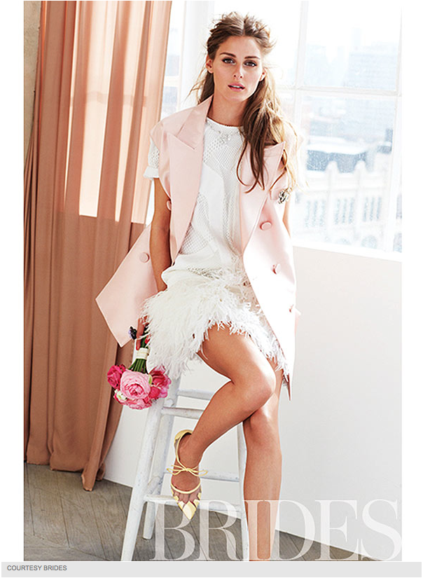 Style icon and Bride to Be Olivia Palermo covers Brides Magazine.