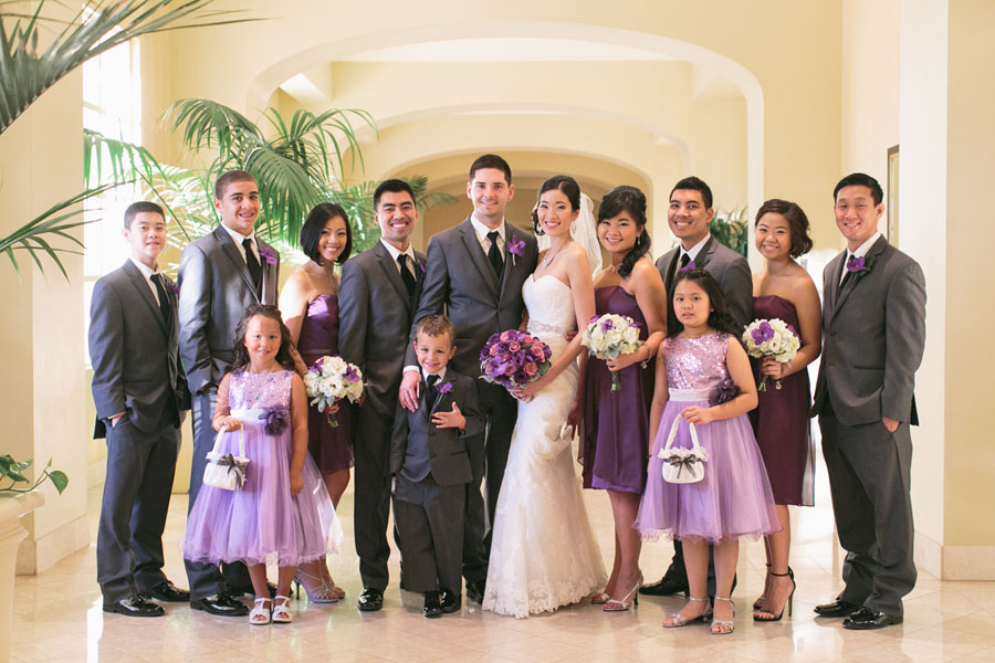 Katherine & Jared - Wedding at the Four Seasons Las Vegas in the colors of Radiant Orchid.    Las Vegas Wedding Planner  Andrea Eppolito .  Wedding at  Four Seasons .  Photography by  Meg Ruth .  Floral and Decor by  Naakiti Floral .
