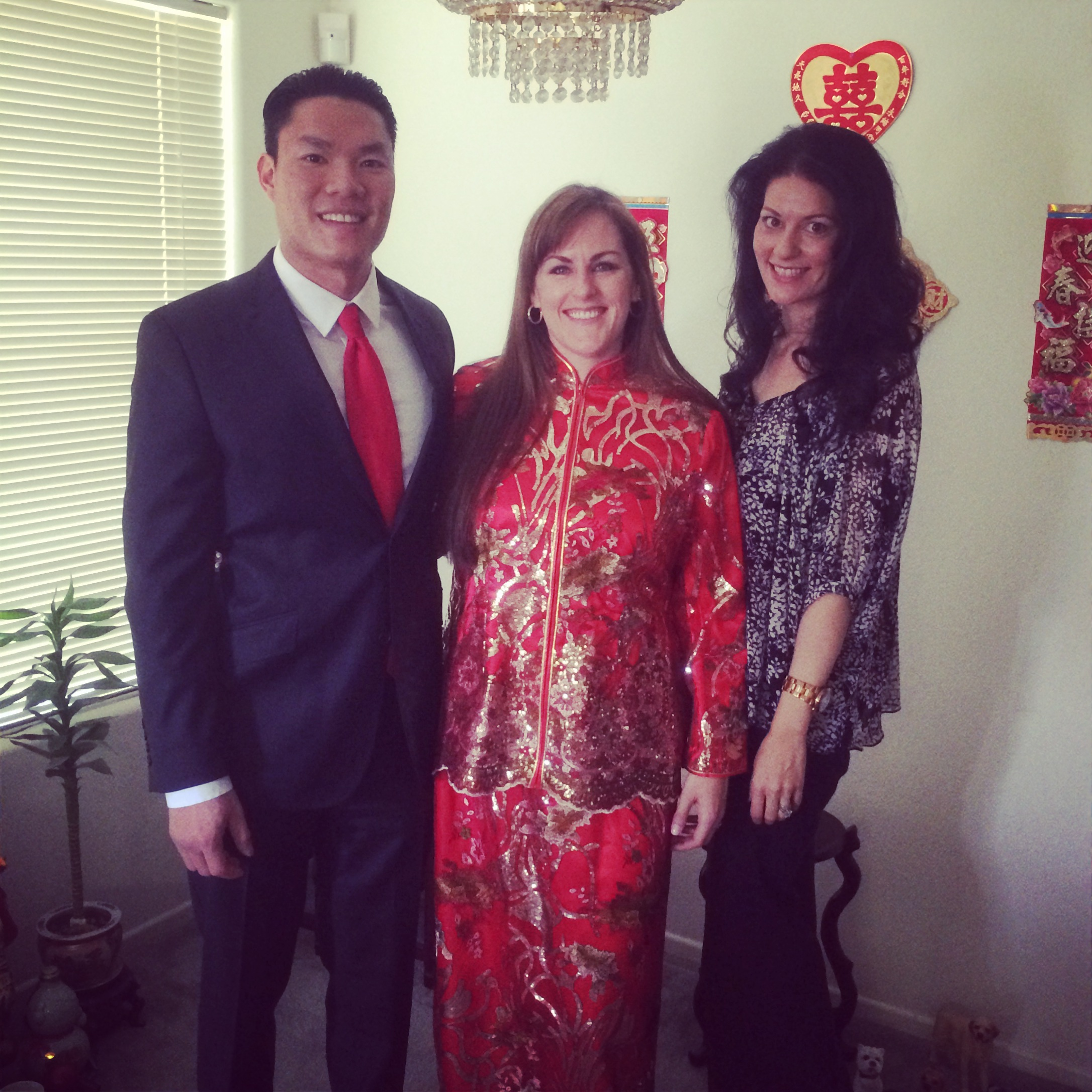 I was lucky to be invited to the Chinese Tea Wedding Ceremony, and stole a quick moment with the soon to be Mr. & Mrs. Tran. Photo by Andrea Eppolito.
