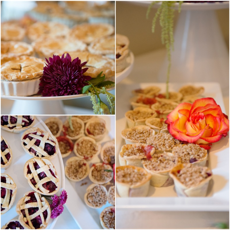 A Pie Bar is the perfect alternative to cake for couple's who want something different.    Destination Wedding Planner:   Andrea Eppolito Events   |  Historical Wedding Venue:   The Arizona Inn   |  Photography:  Raylene Streuber