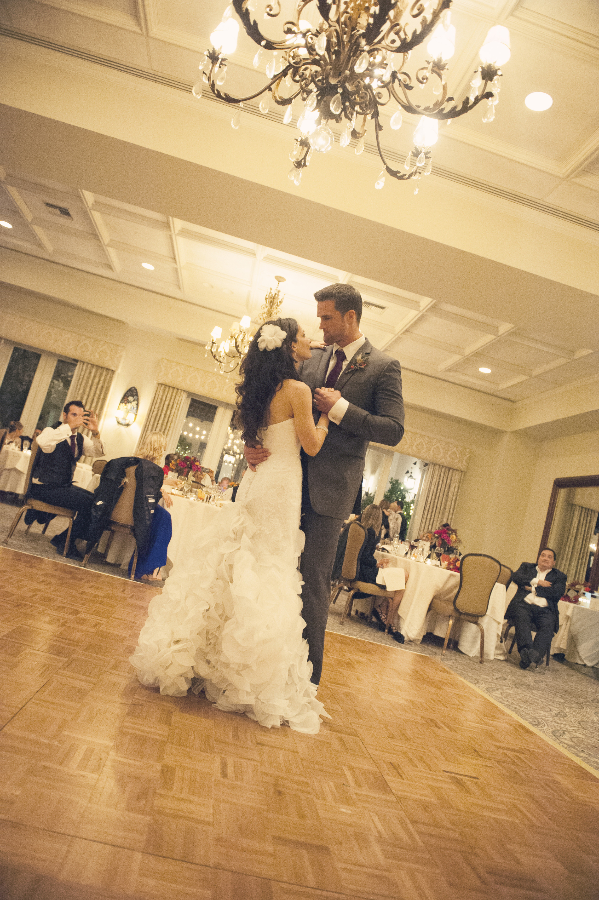 The First Dance.    Destination Wedding Planner:   Andrea Eppolito Events   |  Historical Wedding Venue:   The Arizona Inn   |  Photography:  Raylene Streuber