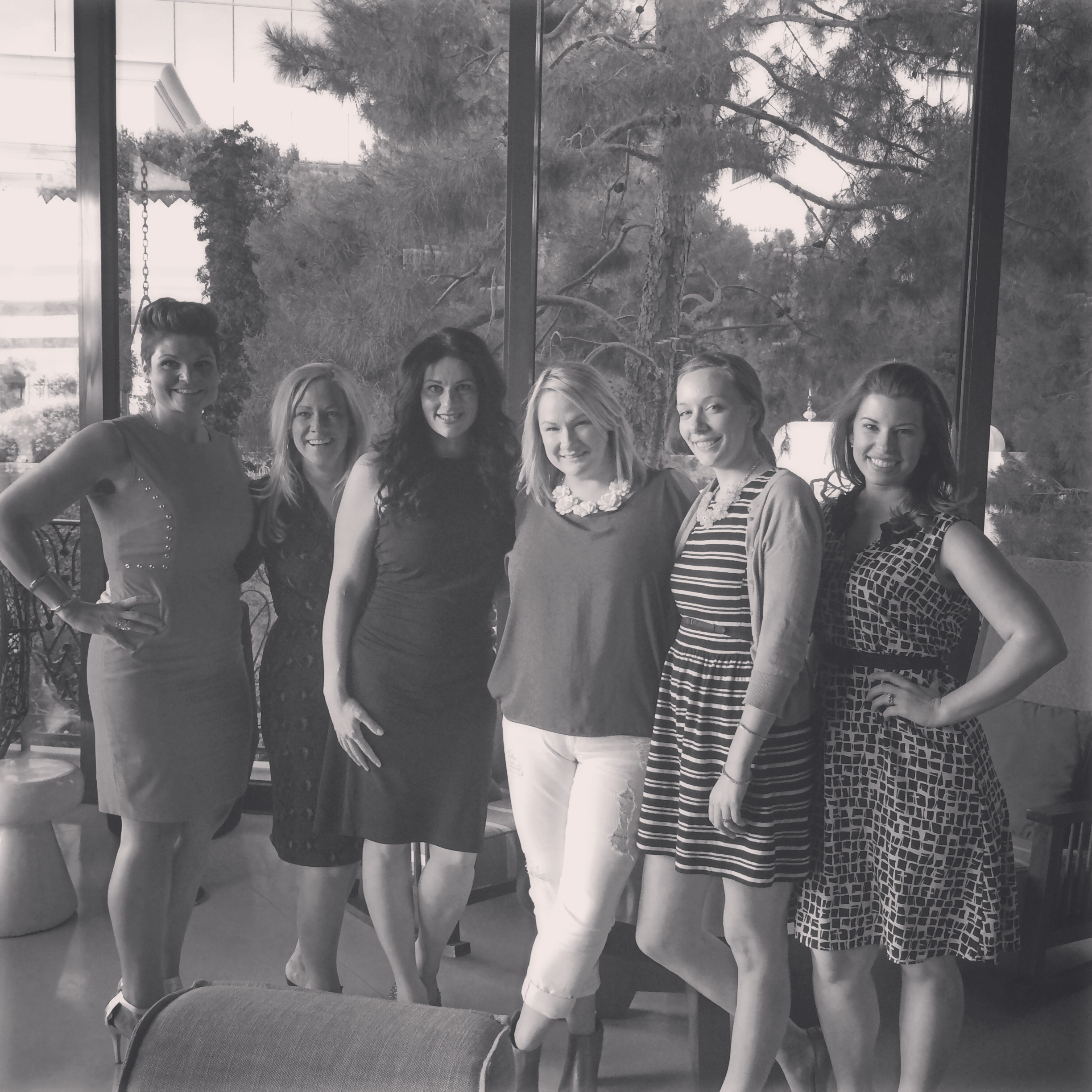 Ladies who Lunch at La Cave! Brit Bertino, Tory L Cooper, myself, and the ladies from Scheme Events.