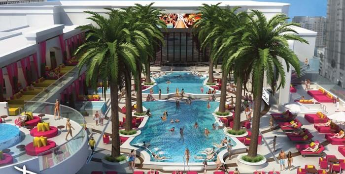 During the day, Drai's will operate the pool deck and cabanas. Courtesy of Caesars Entertainment.