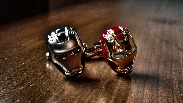 Every man wants to be a super hero.  Cufflinks by  Unicuffs .