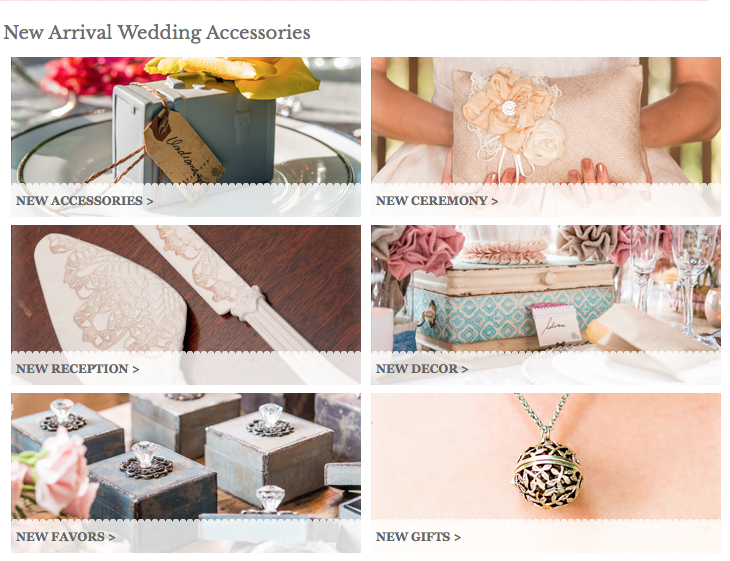 Weddingstar.com offers products from accessories to decor and even gifts and favors to help couples personalize and design their special day.