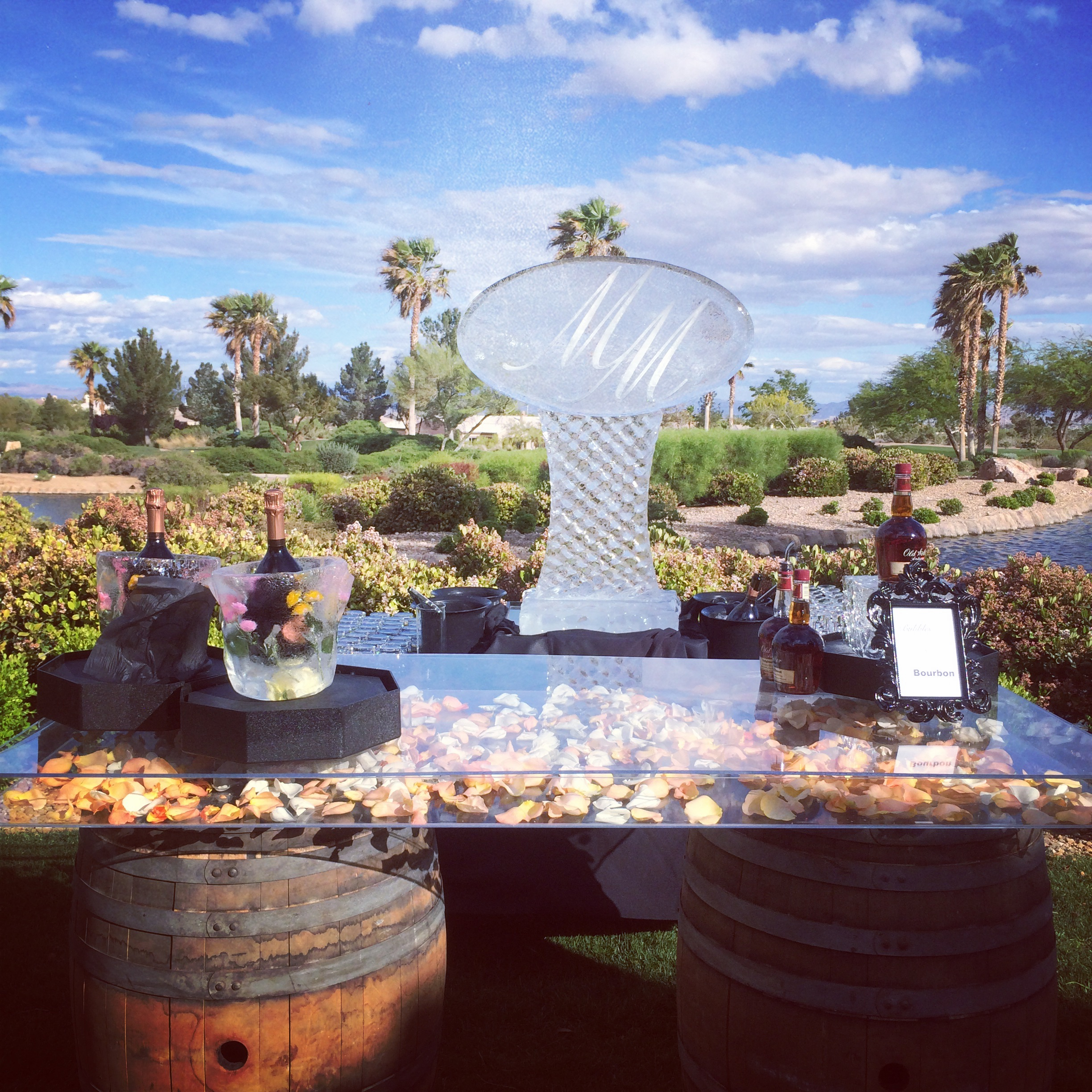 The best bar ever, for the best day ever!     Las Vegas Wedding at   Siena Golf Club    |  Photography by     Andrea Eppolito    | Floral and Decor by  Naakiti Floral   |  Monogram by  Ice Occasions   |  Las Wedding Planner   Andrea Eppolito