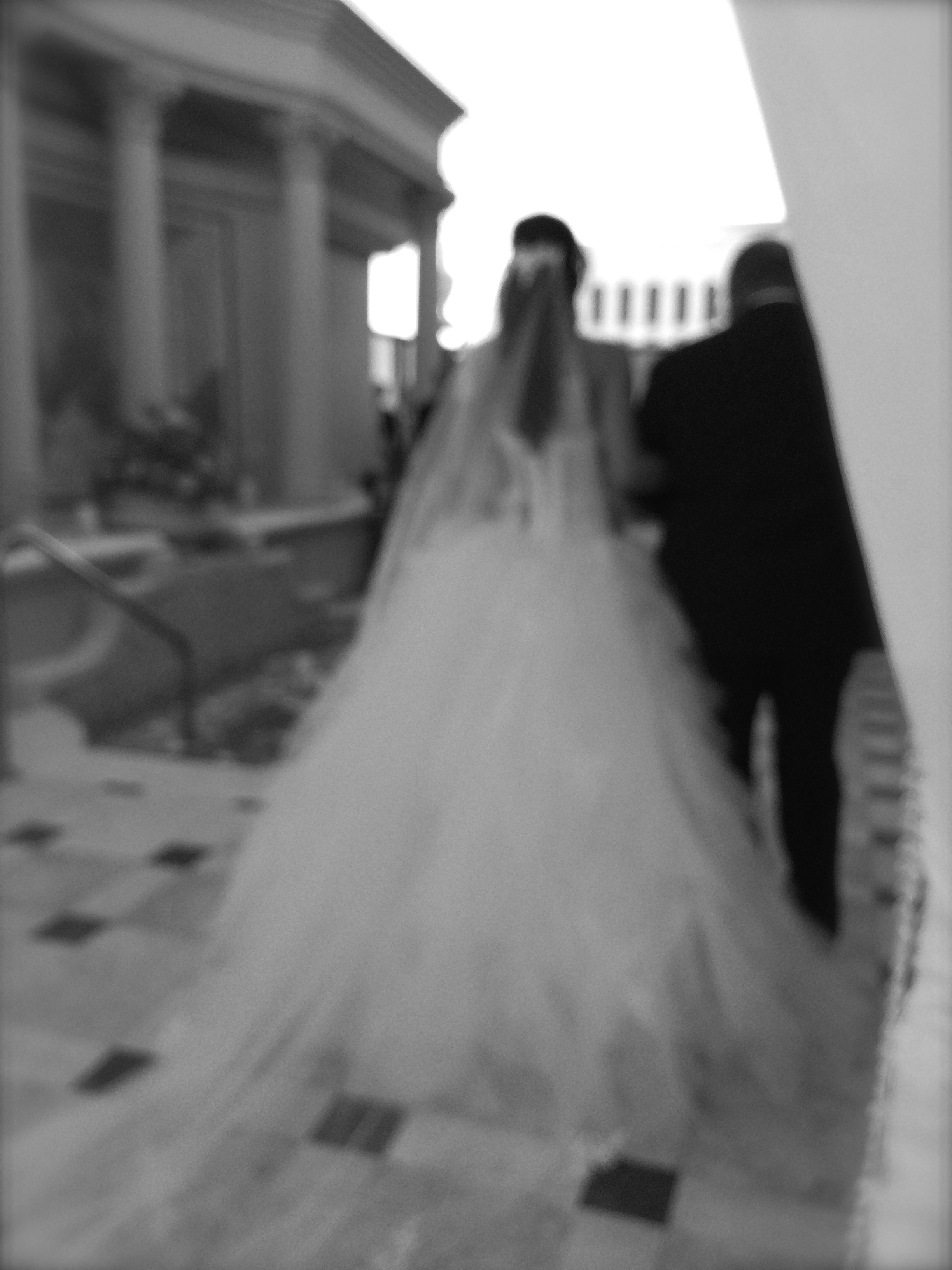The father of the bride gave her away.    Las Vegas Wedding Planner:  Andrea Eppolito Events  | Las Vegas Wedding Venue:   Caesars Palace  | Floral and Decor:   Naakiti Floral   | Wedding Gown:  Pnina Torna  i | Behind the Scenes Photos:   Andrea Eppolito