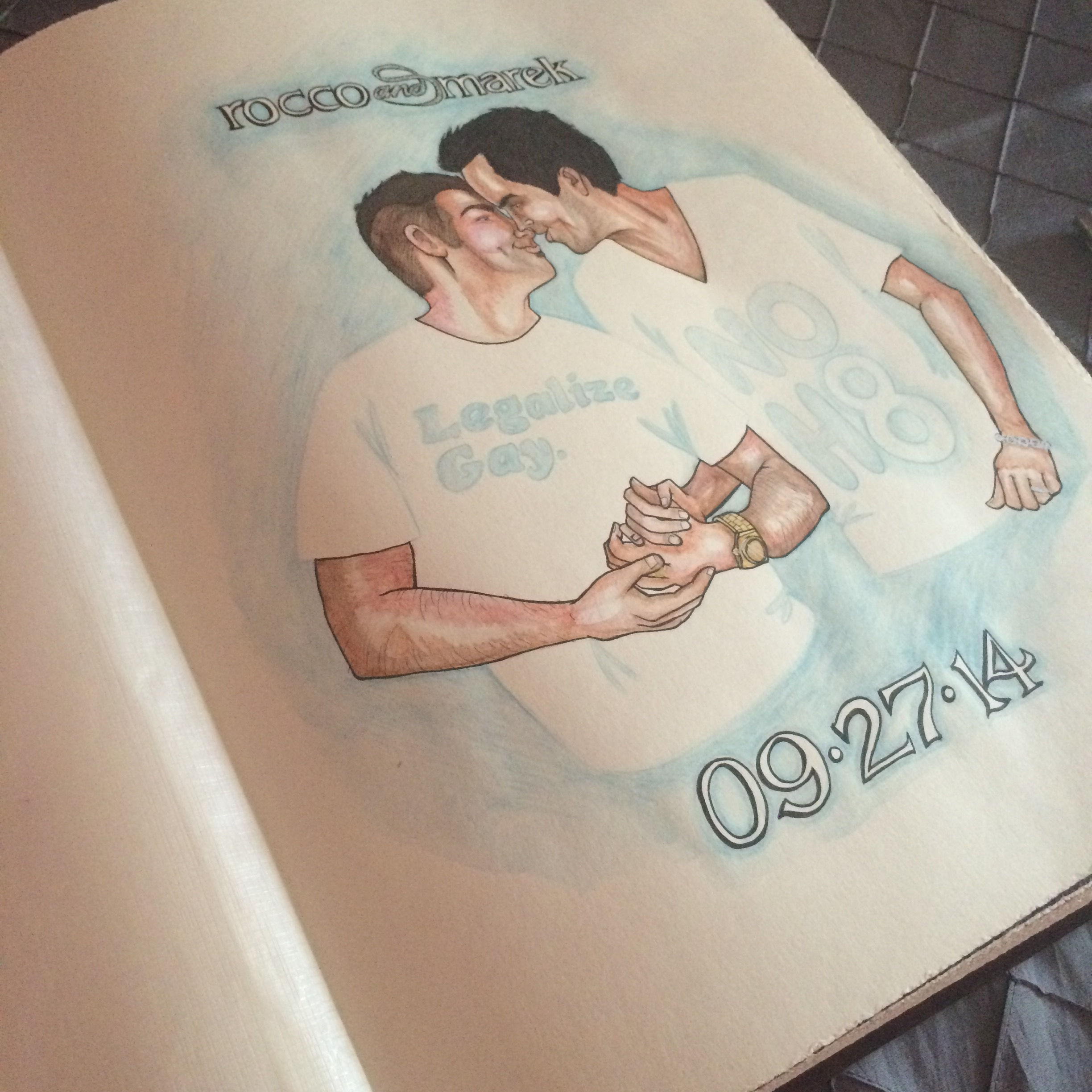 The opening page of the book was inspired by a photo taken by AltF Photography.    Destination Wedding Planner Chicago & Las Veags:  Andrea Eppolito  | Artwork:   The Girl Who Drew You