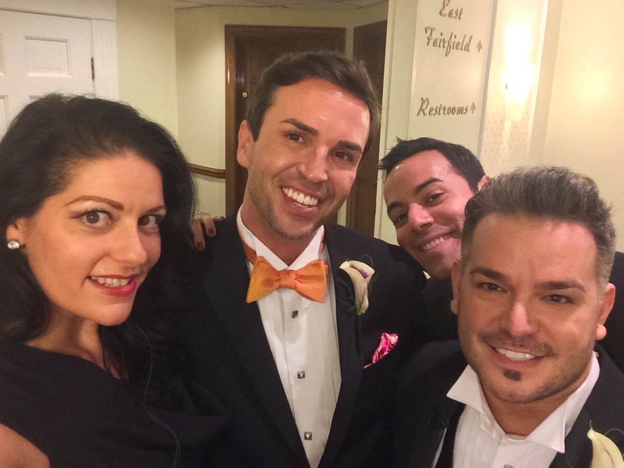 But first, let us take a selfie! Marek & Rocco posed with me and their very close friend turned newly ordained officiant, Chris Saldana just moments before walking down the aisle!