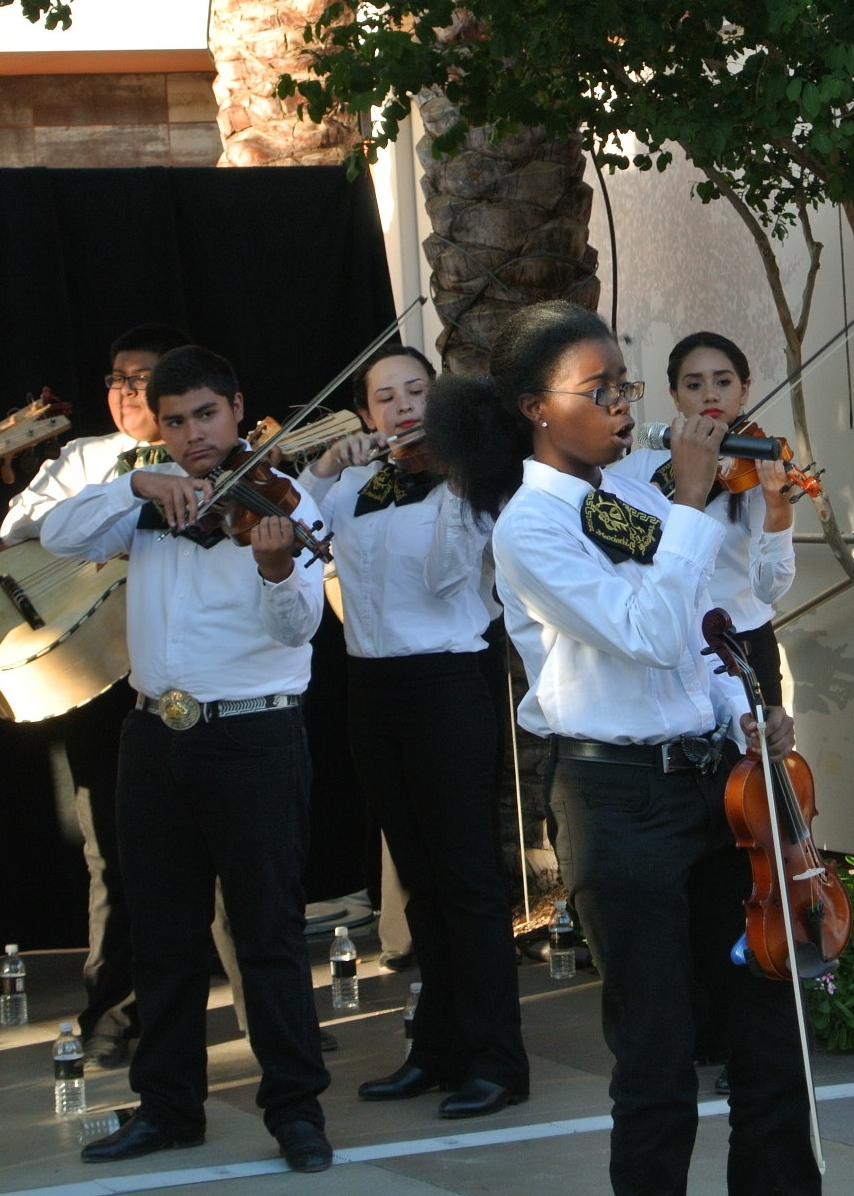 A Mariachi Band greeted and entertained guests during the cocktail hour.   Las Vegas Wedding Planner:    Andrea Eppolito Events    |  Wedding Venue:    Mandarin Oriental Las Vegas