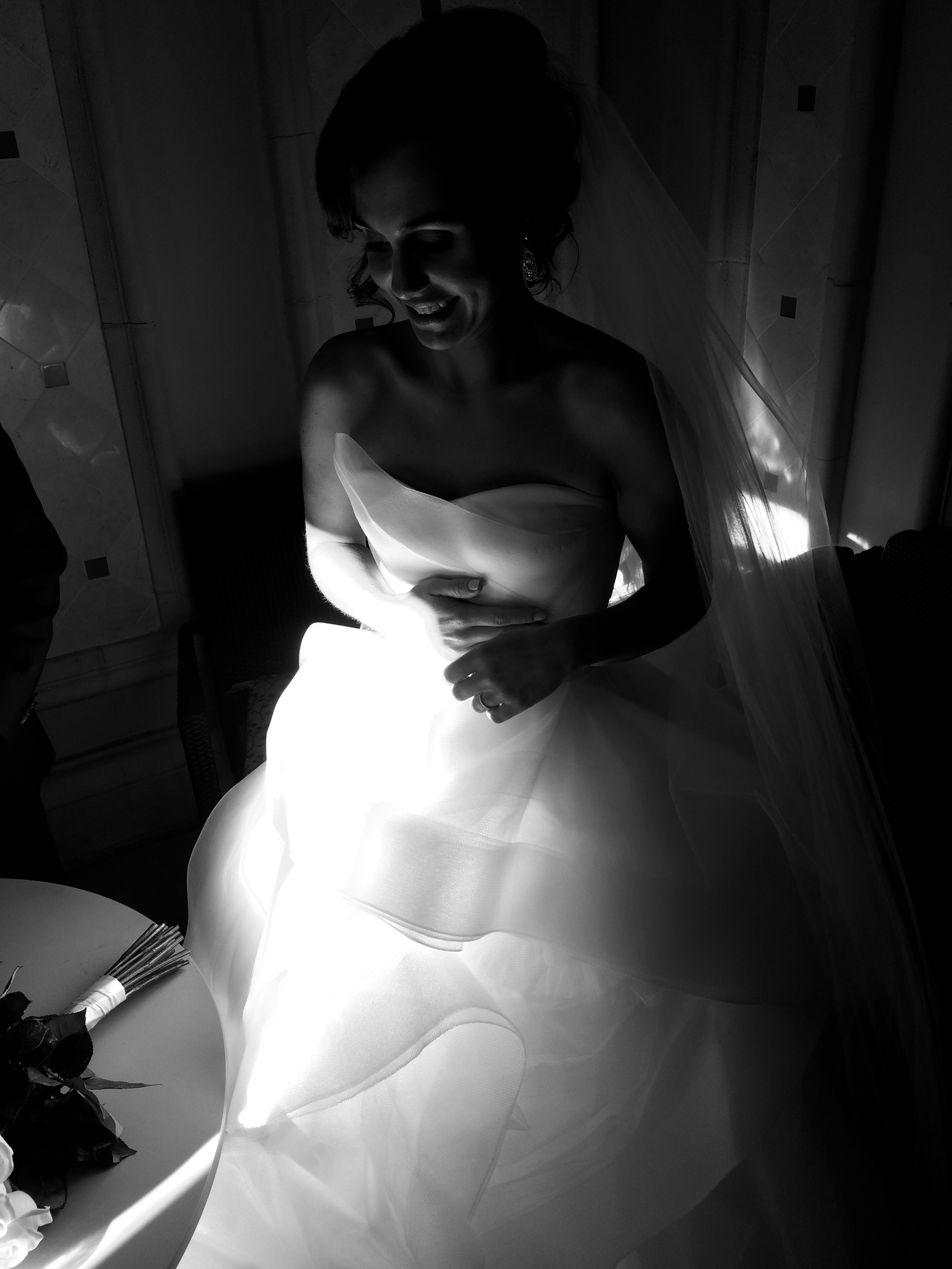 The Bride moments after the ceremony.    Las Vegas Wedding Planner Andrea Eppolito    Wedding at Bellagio Las Vegas