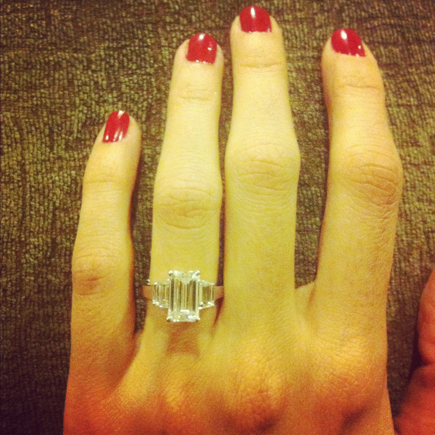 Fun Personal Fact - I got engaged on Thanksgiving, and married one year to the day later! This was my Instagram pic!