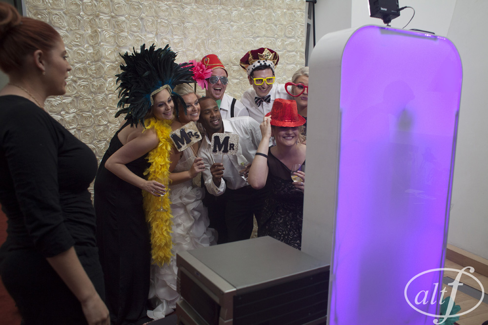 Open air photo booth by The Joy Squad - Perfect for Luxury Weddings in Las Vegas.