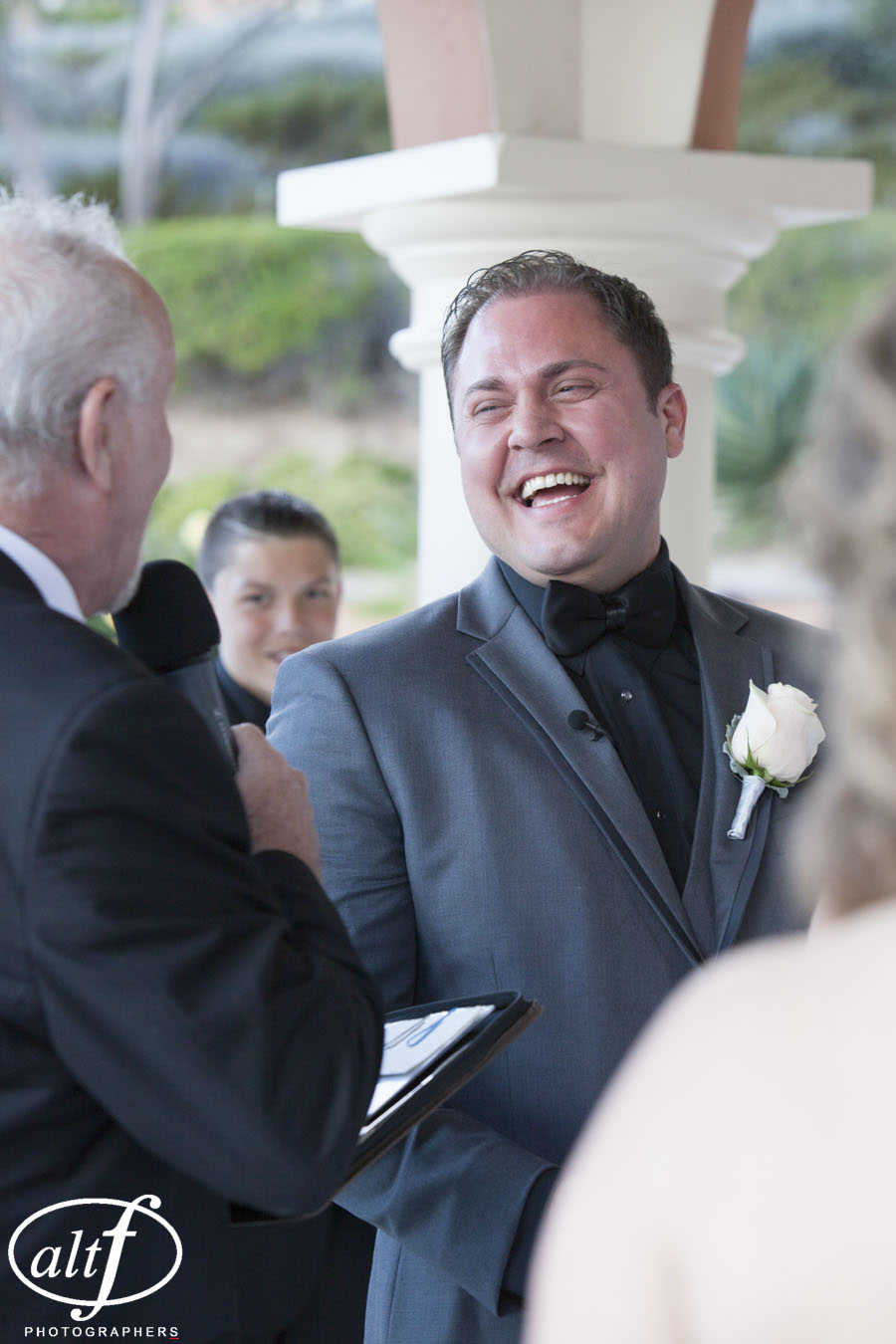 Groom Eric Noe was all smiles all day as he wed his bride, Amy, at The Westin Lake Las Vegas. April 2014  Las Vegas Wedding Planner Andrea Eppolito   Photo by  www.alf.com