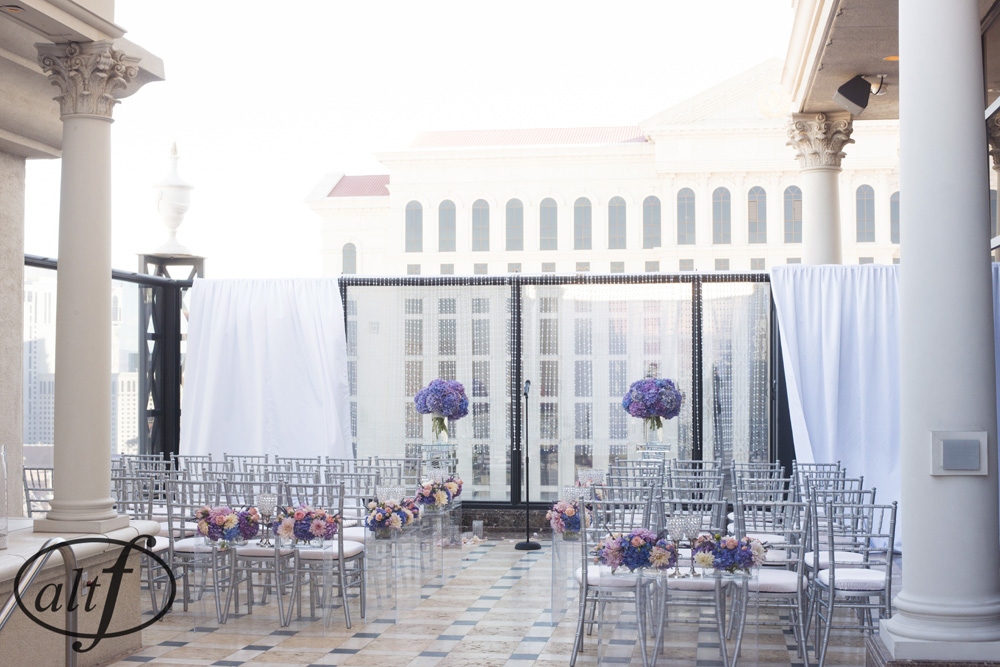 Las Vegas Wedding Planner Andrea Eppolito  |    Venue:  Caesars Palace  |  Decor by Naakiti Floral