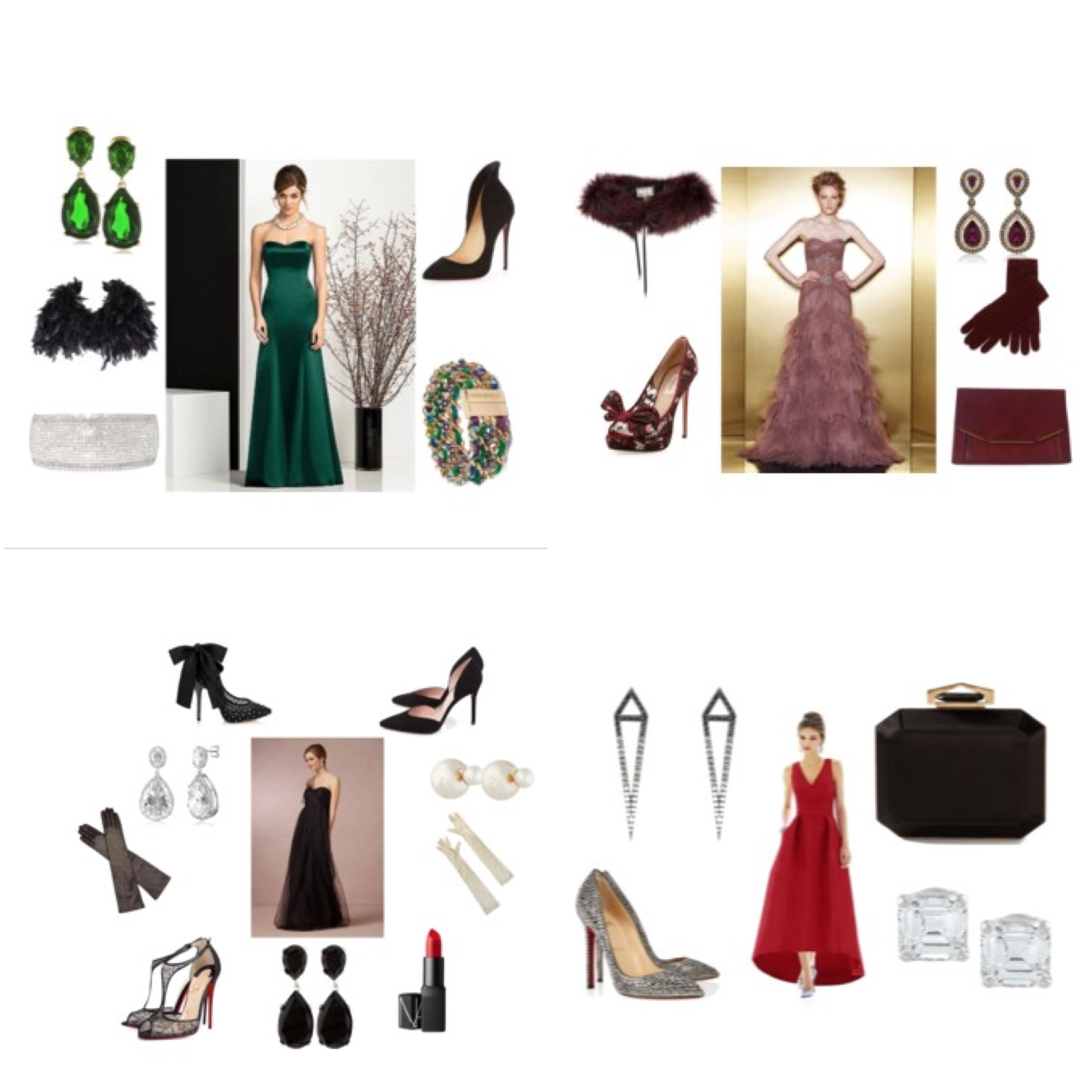 Las Vegas Wedding Planner Andrea Eppolito partnered with  Lover.ly  to showcase inspired bridesmaid styles for Winter 2015.  All inspiration is courtesy of  Polyvore .