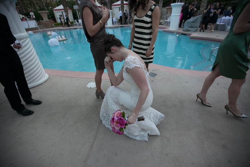 Yes, the bride was Tabooing.   Las Vegas Wedding Planner Andrea Eppolito Events  |  Photo by Corry Arnold  |  Vintage Poolside Wedding at The Flamingo