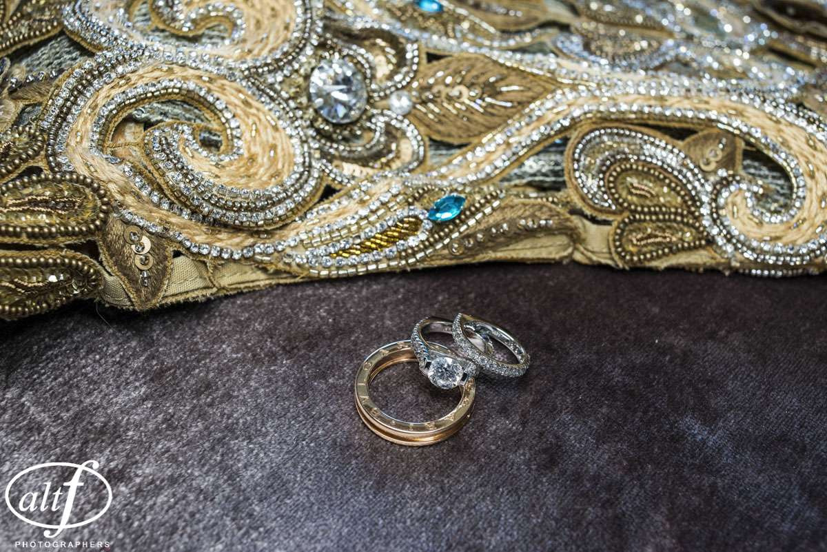 Engagement Rings and Wedding Band.  Indian Wedding at the Mandarin Oriental. Las Vegas Wedding Planner Andrea Eppolito. Photo by Altf.