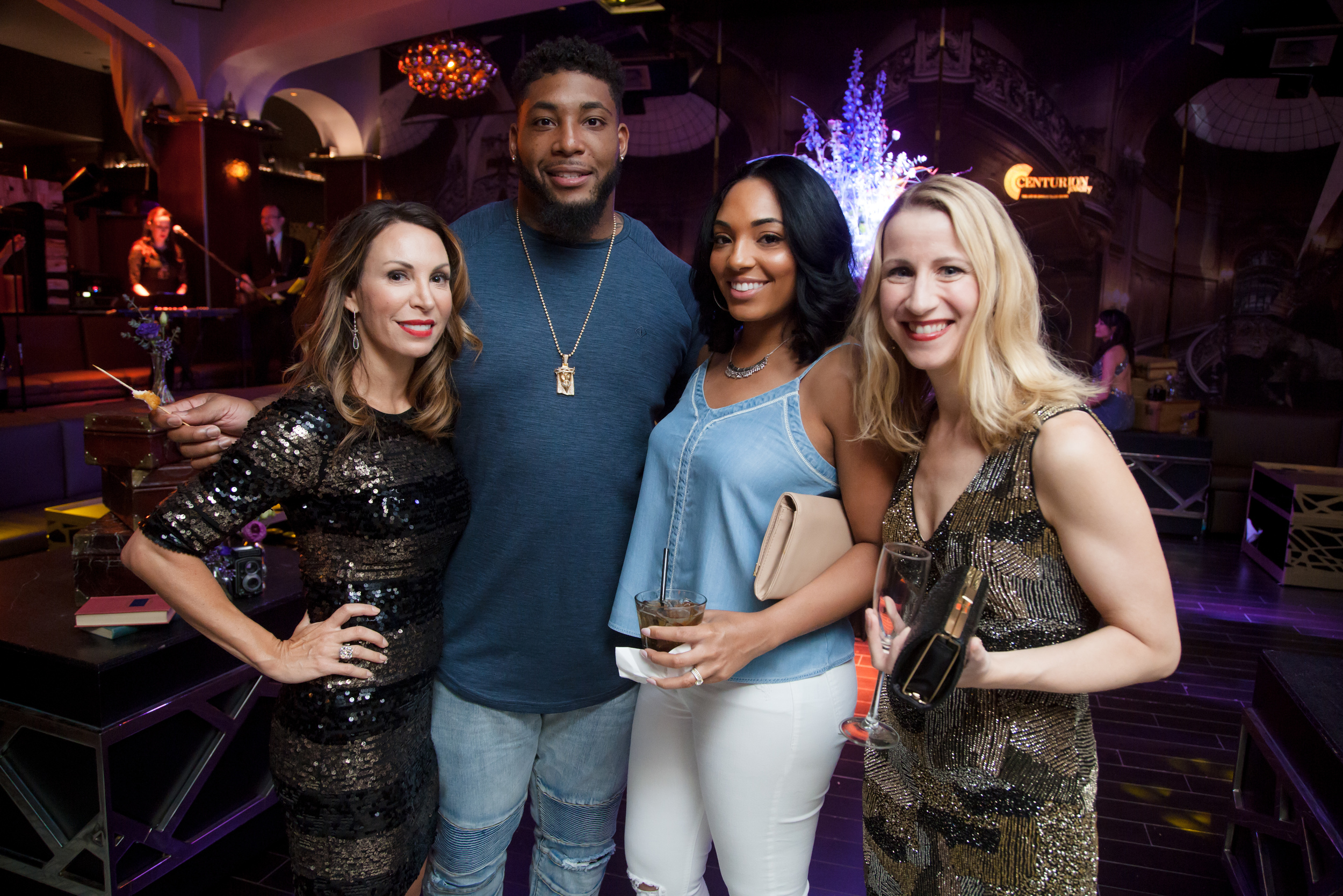 """Special Guest Devon Still and his new wife Asha Joyce, joined the party after their Knot wedding celebrating his daughter Leah's cancer free diagnosis. """"LeahStrong"""