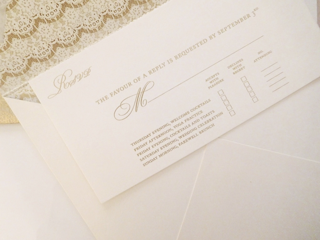 RSVP Card for multple events.