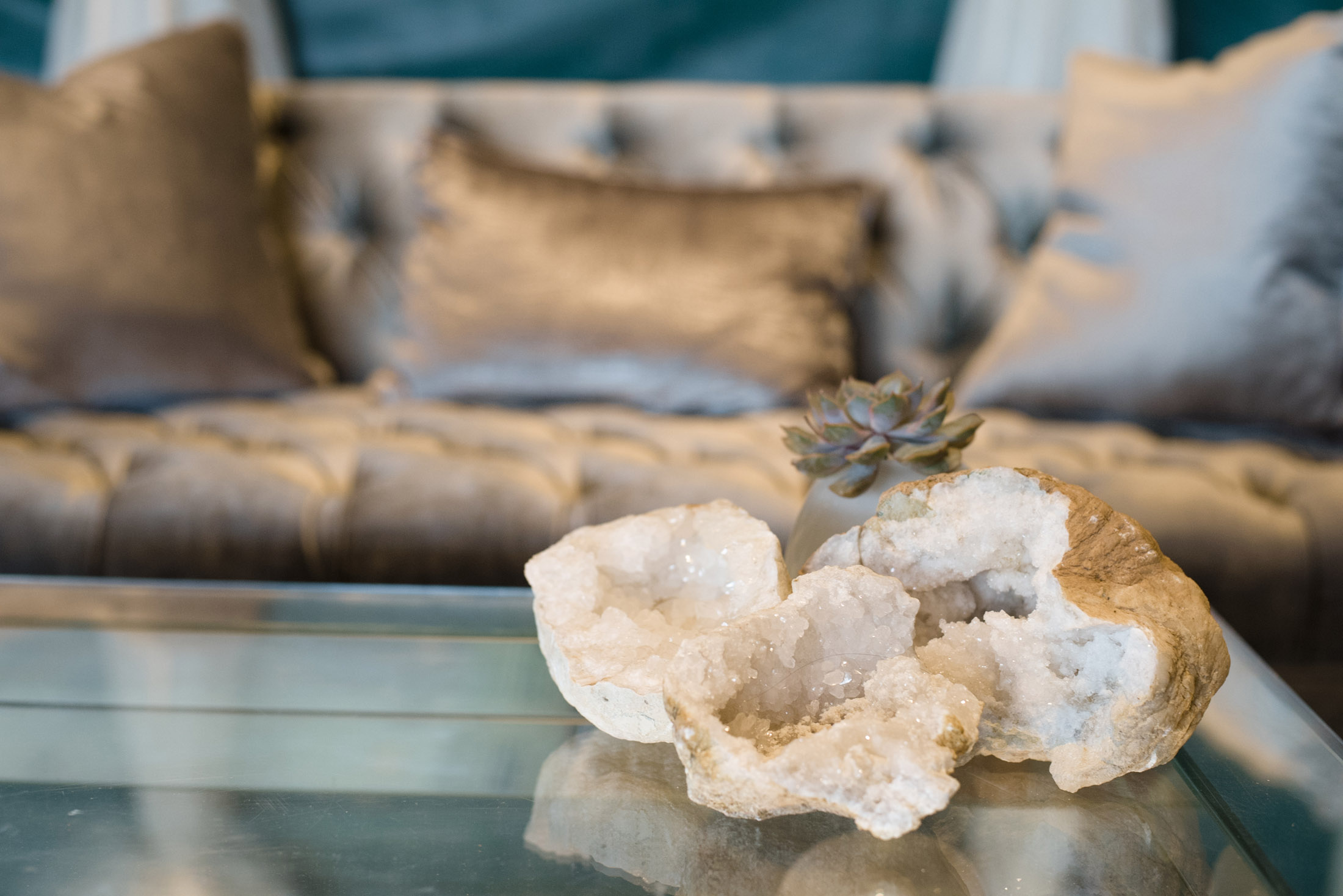 Geodes brought good energy into our Balance Reverie Retreat.