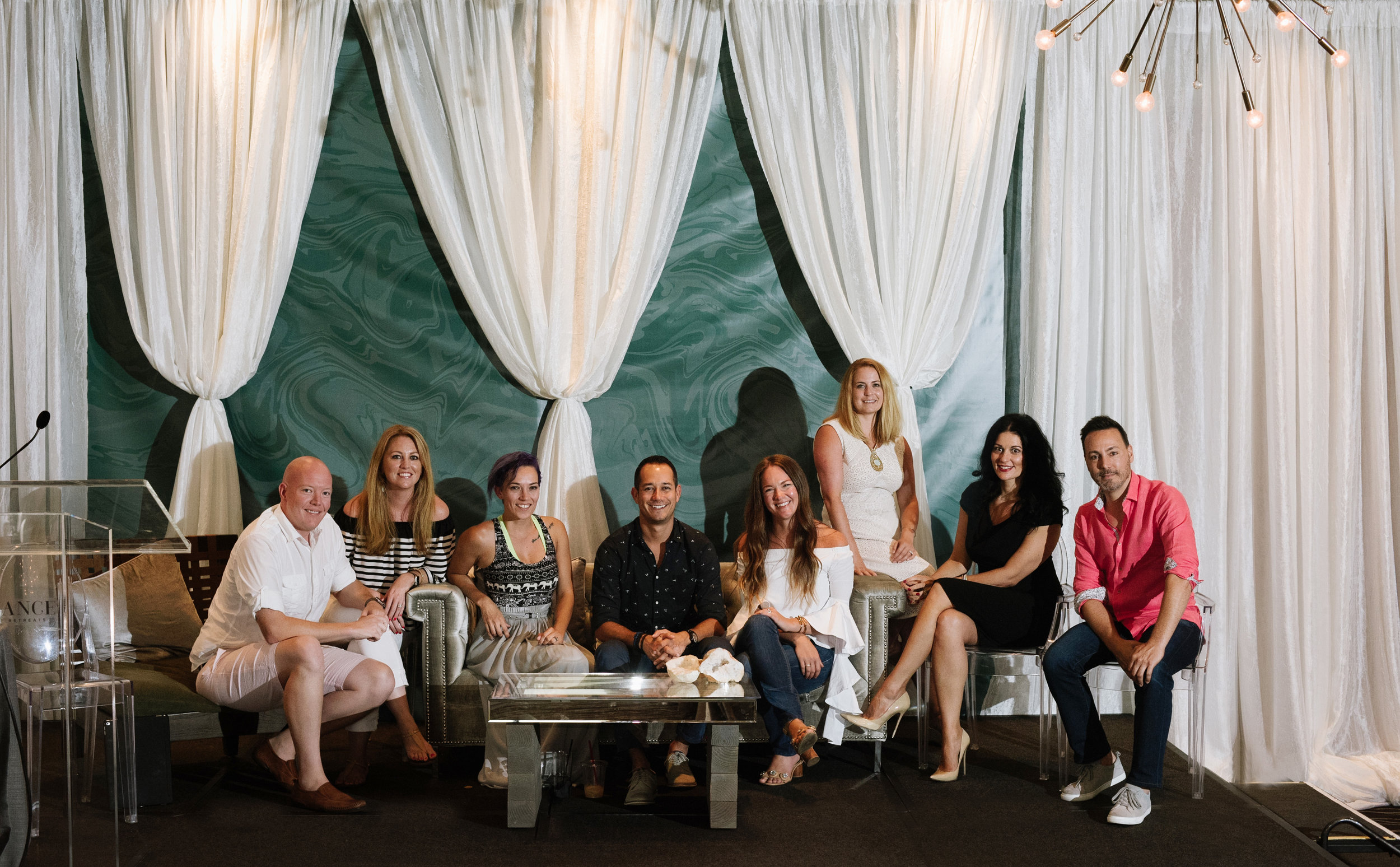 Speakers and Mentors at the Balance Reverie Retreat. Photo by Cameron Kelly Studio.