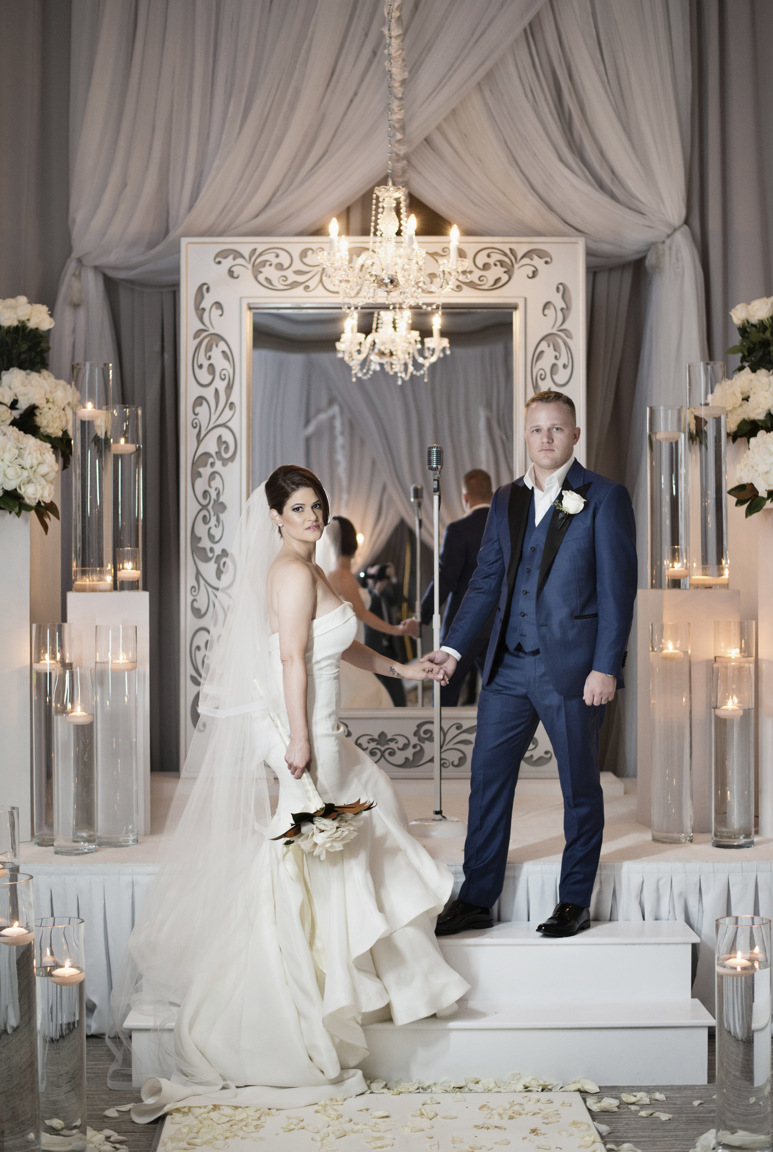 Las Vegas Wedding Planner Andrea Eppolito produced this luxury wedding at The Four Seasons Las Vegas. Decor by DBD Vegas. Images by AltF Photography.