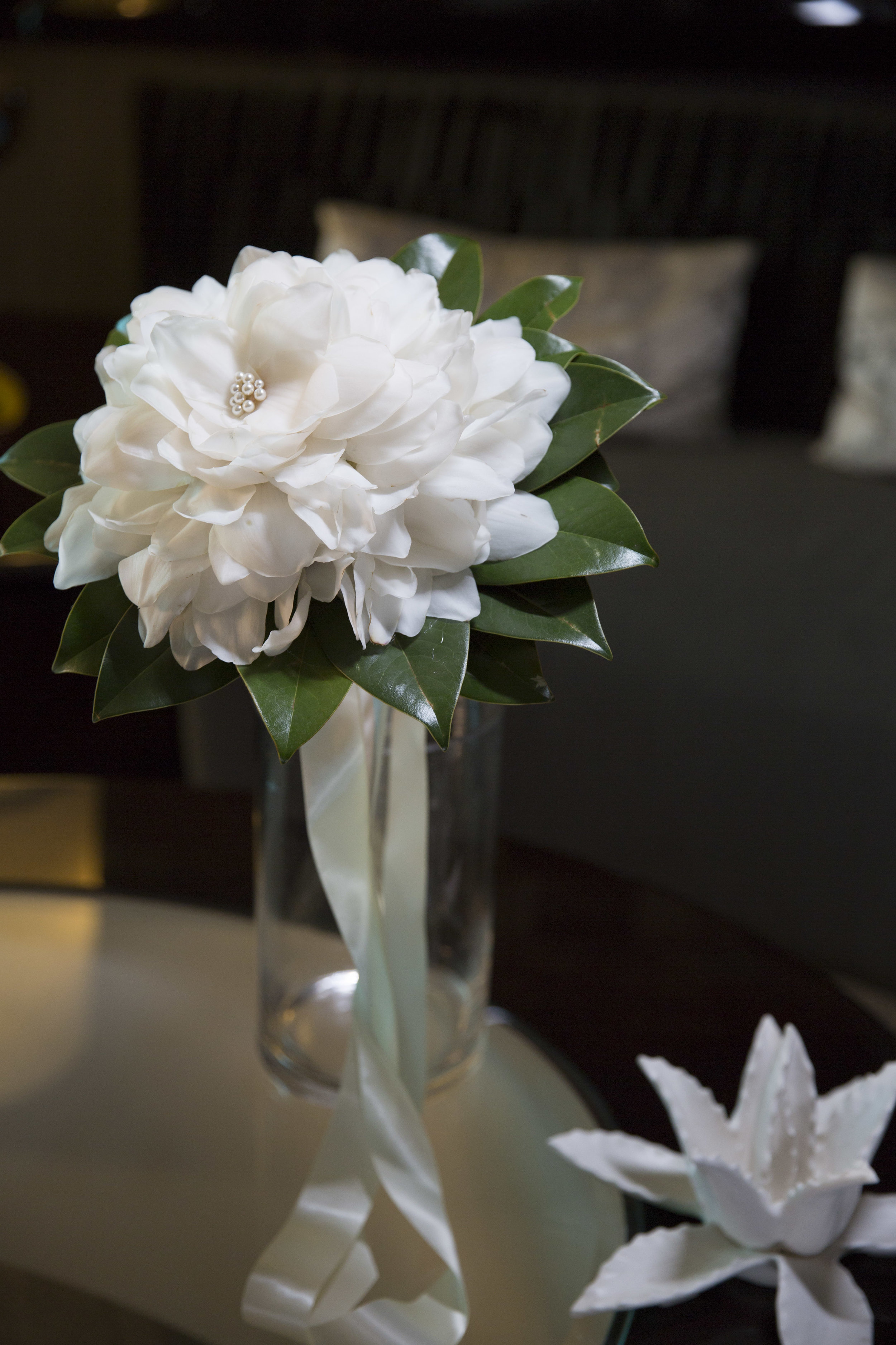 Magnolia bride bouquet by for Las Vegas Wedding Planner Andrea Eppoltio by DBD Vegas. Photo by AltF Photography.