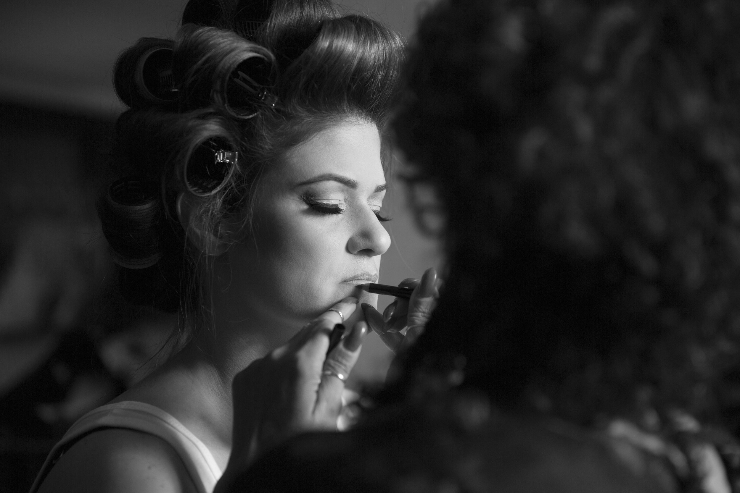 Wedding hair and make up by Zee Clemente. Photo by AltF Photography. Wedding at Four Seasons Las Vegas. Las vegas Wedding Planner Andrea Eppolito.